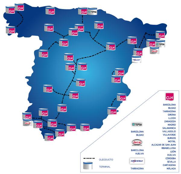 Mapa de terminals